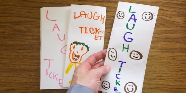Put a Laugh Ticket on a Car During Speech Therapy
