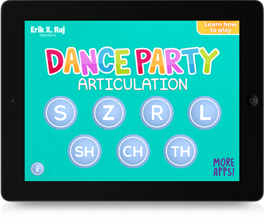 Dance Party Articulation on iPad