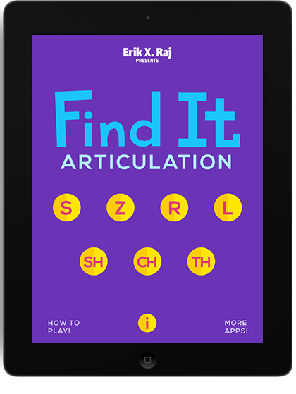 Find It Articulation on iPad